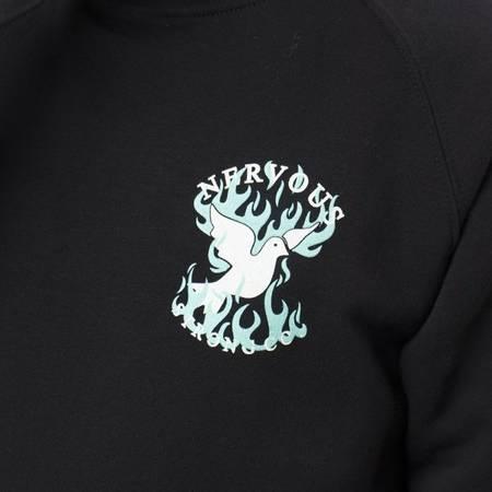 Bluza Nervous Crew Raglan Fire Black