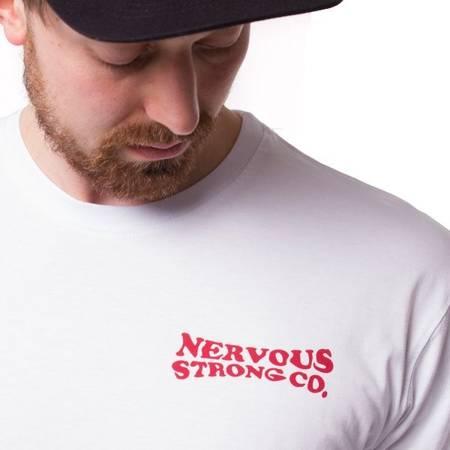 T-SHIRT NERVOUS SUNSET WHITE